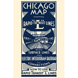 Chicago Map Rapid Transit Lines Magnet