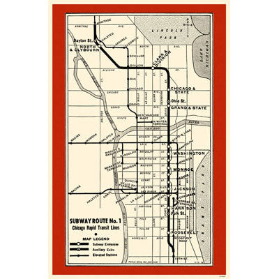 Subway Route No 1 Magnet