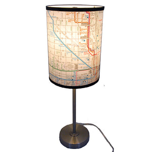 Bus & Rail Map (Northside) Table Lamp