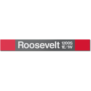 Roosevelt (Red) Station Sign
