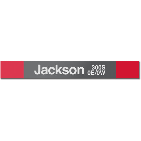 Jackson (Red) Station Sign - CTAGifts.com