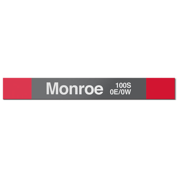 Monroe (Red) Station Sign - CTAGifts.com