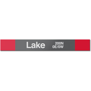 Lake Station Sign - CTAGifts.com