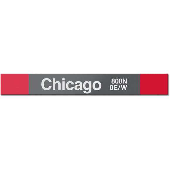 Chicago (Red) Station Sign