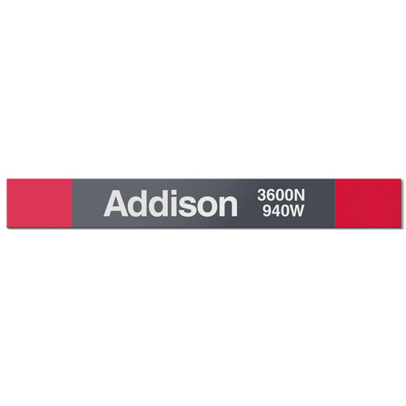 Addison (Red) Station Sign - CTAGifts.com