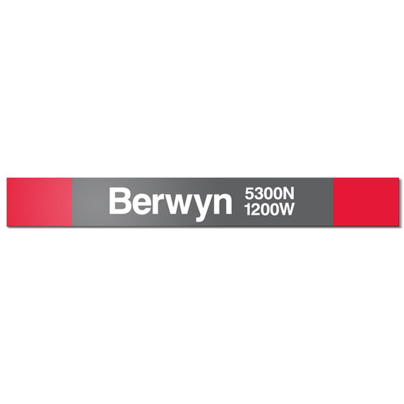 Berwyn Station Sign - CTAGifts.com