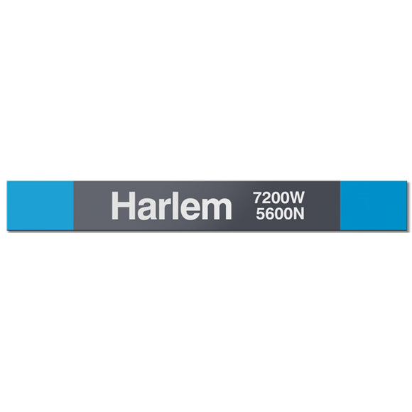 Harlem (Blue 5600N 7200W) Station Sign - CTAGifts.com