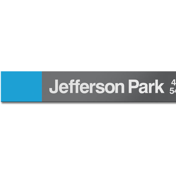 Jefferson Park Station Sign - CTAGifts.com