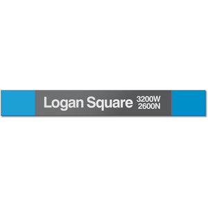Logan Square  Station Sign