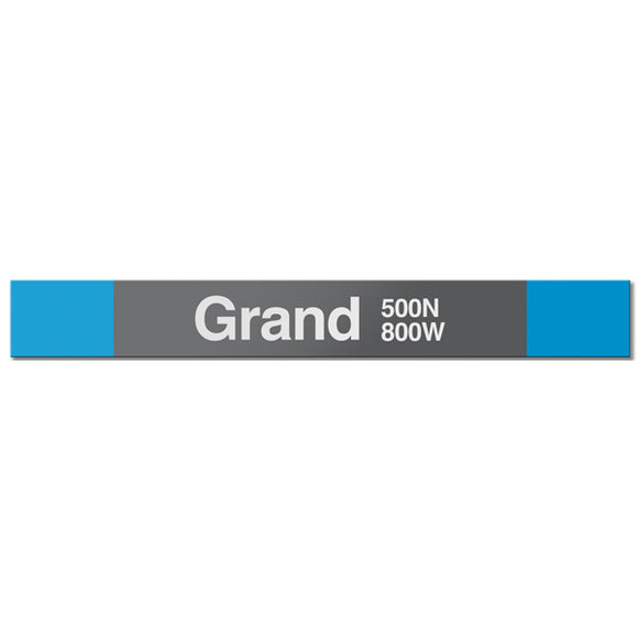 Grand (Blue) Station Sign - CTAGifts.com