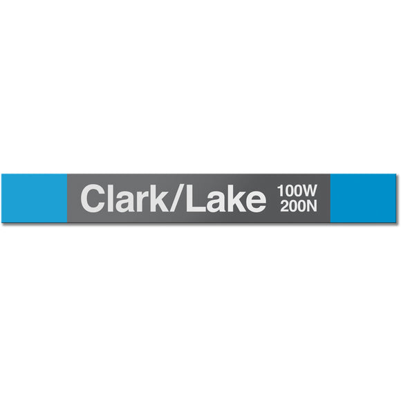 Clark/Lake (Blue) Station Sign - CTAGifts.com
