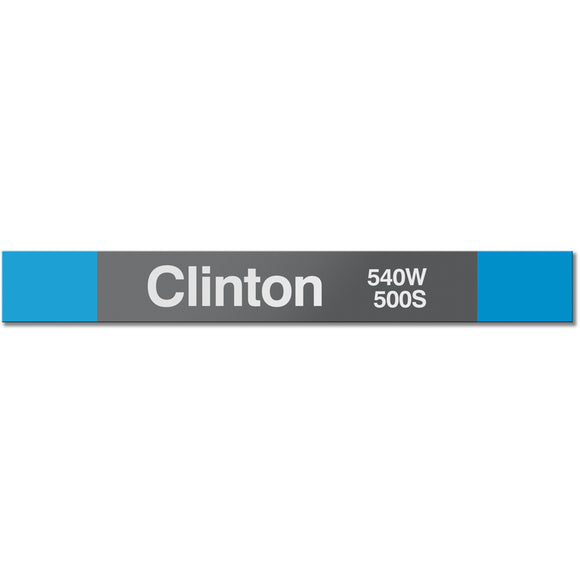 Clinton (Blue) Station Sign