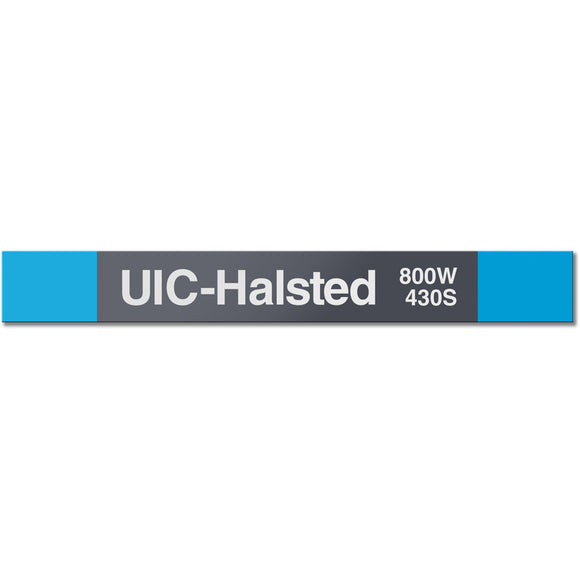 UIC-Halsted Station Sign - CTAGifts.com