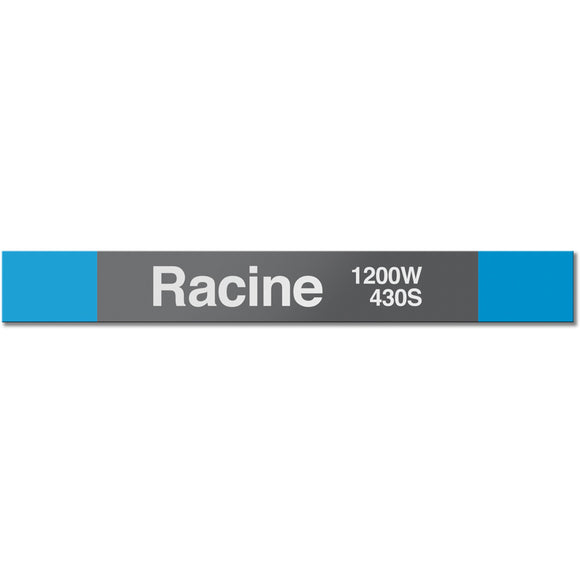 Racine Station Sign - CTAGifts.com