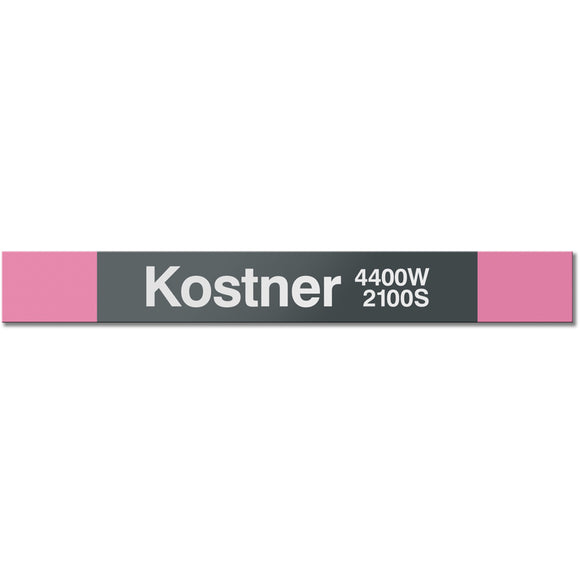 Kostner Station Sign - CTAGifts.com