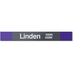 Linden Station Sign