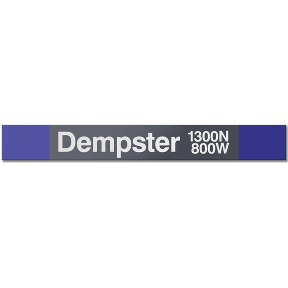 Dempster (Purple) Station Sign - CTAGifts.com