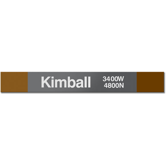 Kimball Station Sign