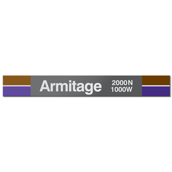 Armitage Station Sign - CTAGifts.com