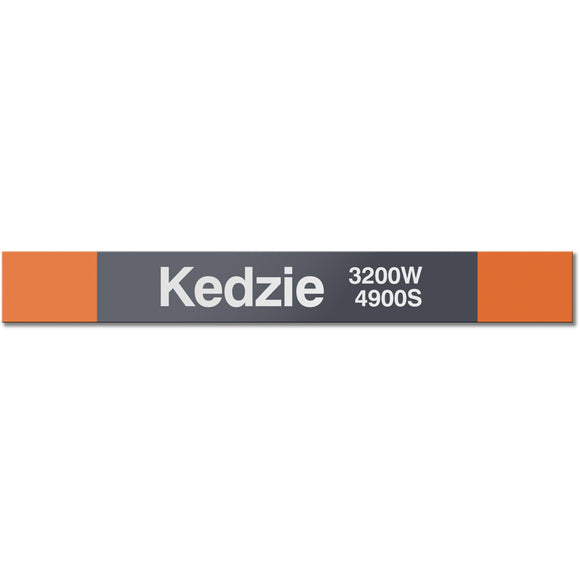 Kedzie (Orange) Station Sign - CTAGifts.com