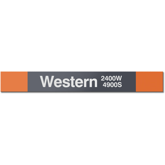 Western (Orange) Station Sign