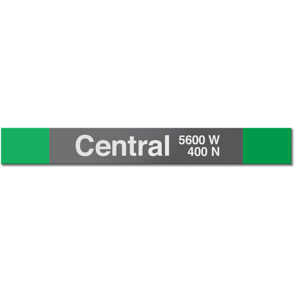 Central (Green) Station Sign