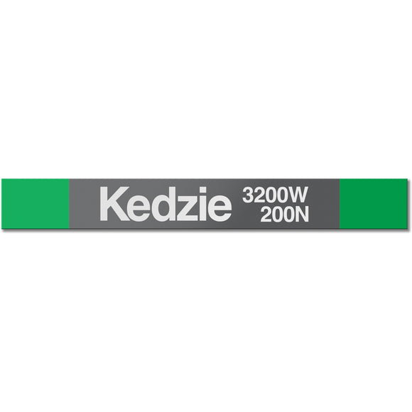 Kedzie (Green) Station Sign