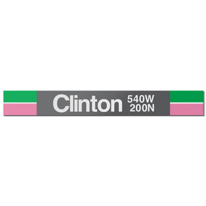 Clinton (Green) Station Sign