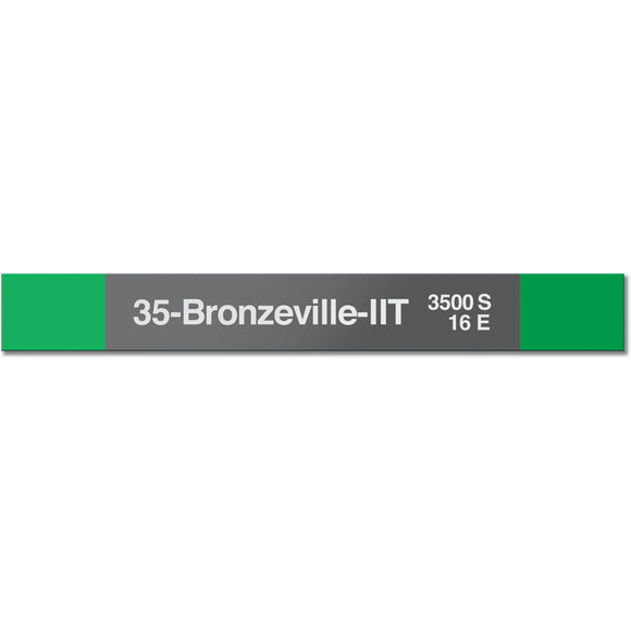 35-Bronzeville-IIT Station Sign