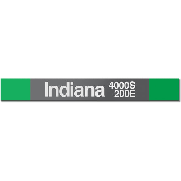 Indiana Station Sign - CTAGifts.com