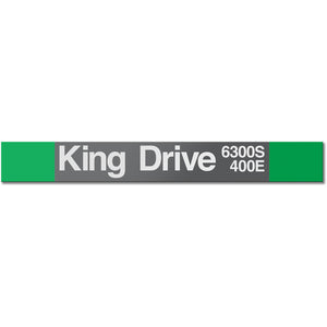King Drive Station Sign
