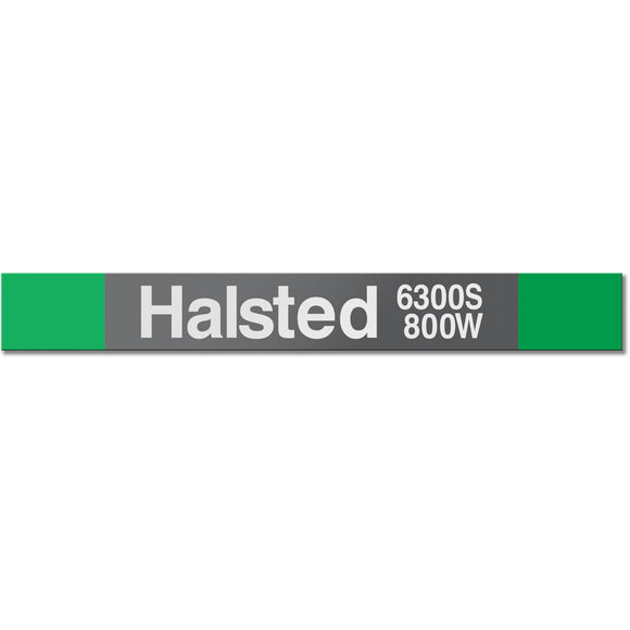 Halsted (Green) Station Sign