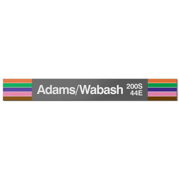 Adams/Wabash Station Sign