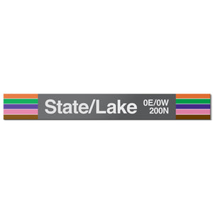 State/Lake Station Sign