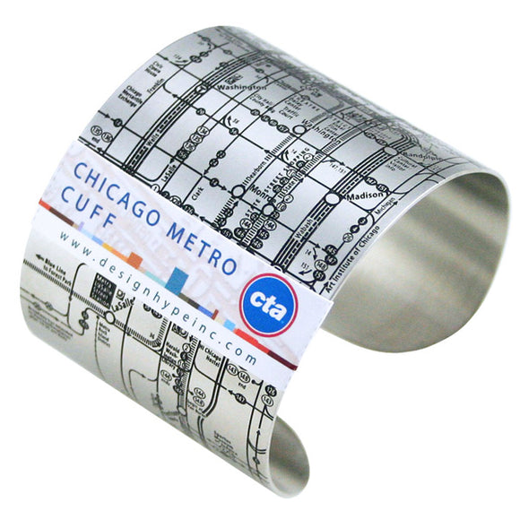 CTA Metro (Black on Silver) Cuff