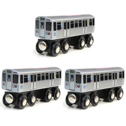 Pink Line 3 Pack (Save $3.00) Wooden Trains