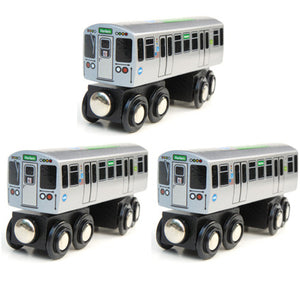 Green Line 3 Pack (Save $3.00) Wooden Trains