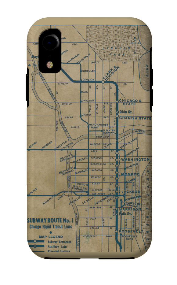 Vintage 'L' Map iPhone Case