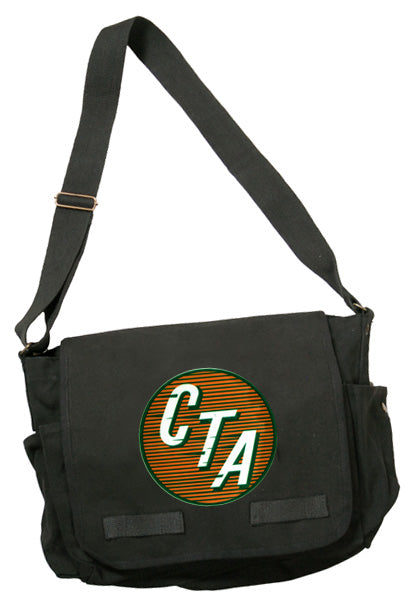 Orange CTA Logo (1947 to 1954) Messenger Bag - CTAGifts.com