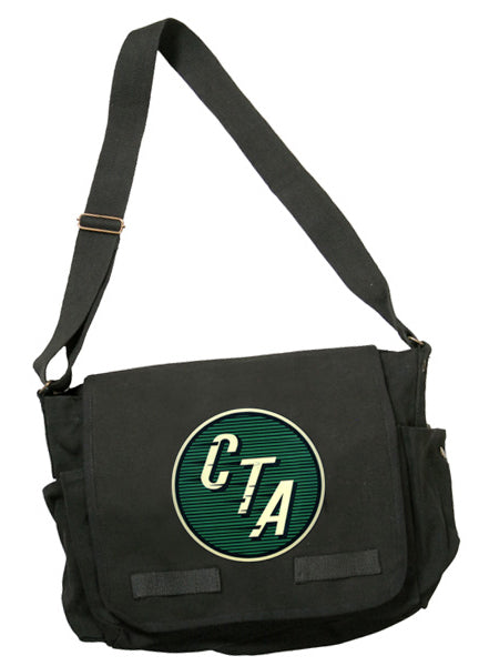 Green CTA Logo (1954 to 1956) Round Messenger Bag - CTAGifts.com