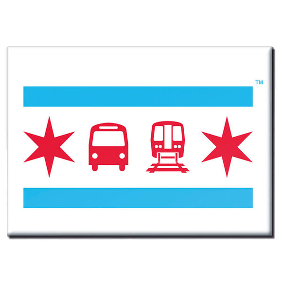 Chicago Flag Magnet - CTAGifts.com