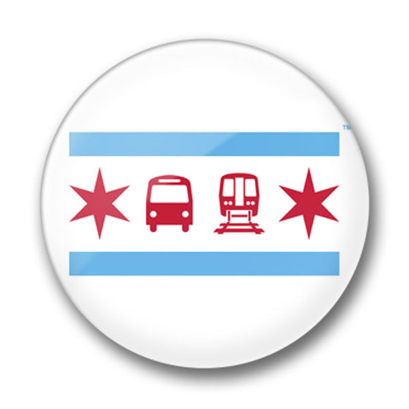 Chicago Flag Pin