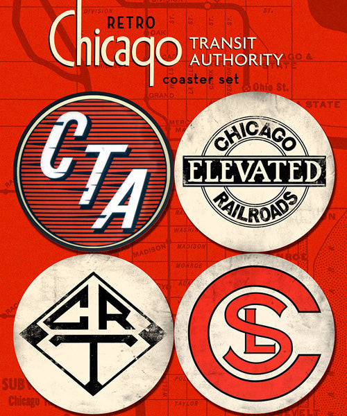 Pre-CTA Collection Coasters (Set of 4) - CTAGifts.com