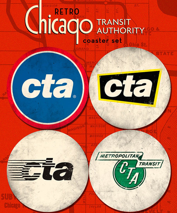 CTA Collection Coasters (Set of 4) - CTAGifts.com