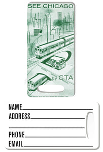 See Chicago Luggage Tag