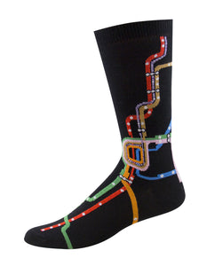 'L' Map  Socks