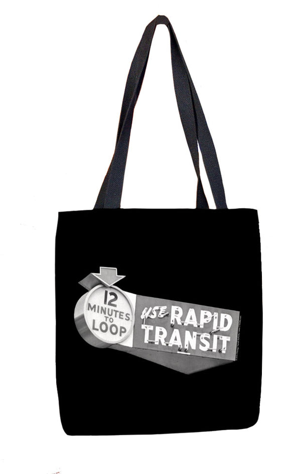 12 Minutes to Loop (Black) Tote Bag