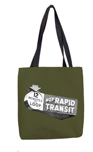12 Minutes to Loop (Green) Tote Bag