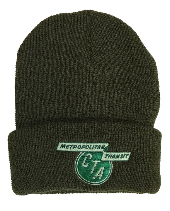 1956 to 1970 CTA Logo (Olive) Watch Cap - CTAGifts.com