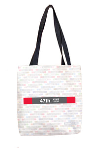 47th (Red) Tote Bag